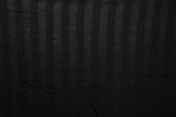 Black striped washed linen fabric 1