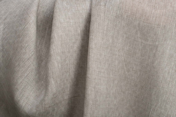 Openwork patterned linen fabric in light grey 1