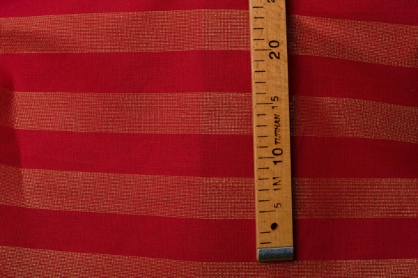 Red shiny linen blend fabric 3