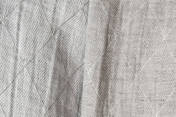 Grey double-sided washed linen fabric with a pattern 1