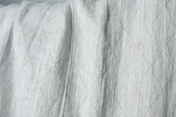 Grey double-sided washed linen fabric with a pattern 2