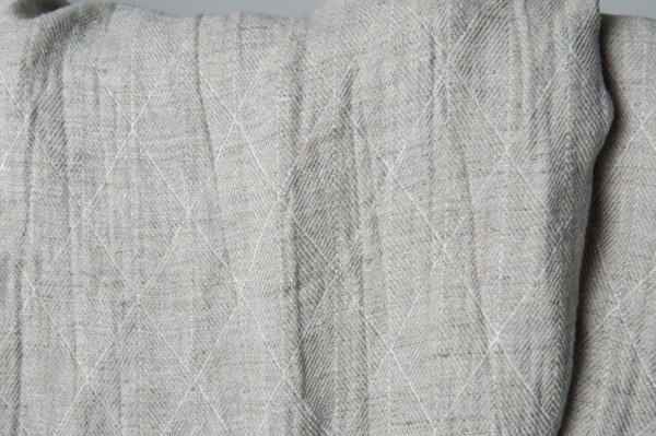 Grey double-sided washed linen fabric with a pattern 3