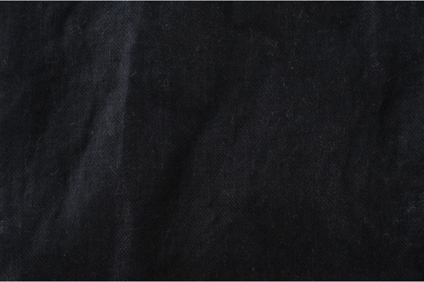 Black washed linen fabric 1