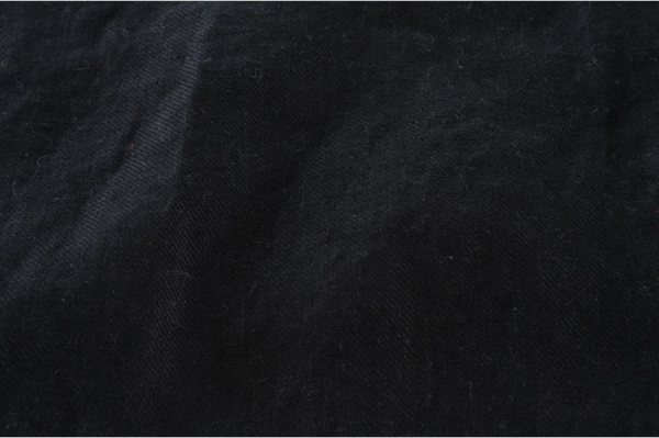 Black washed linen fabric 2