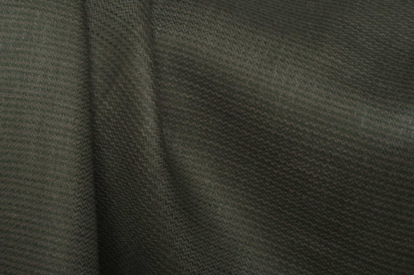Green patterned linen fabric by the yard or meter 1