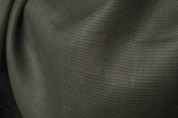Green patterned linen fabric by the yard or meter 2