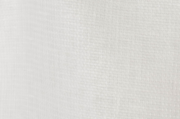 Bright white linen fabric in a small check pattern 2