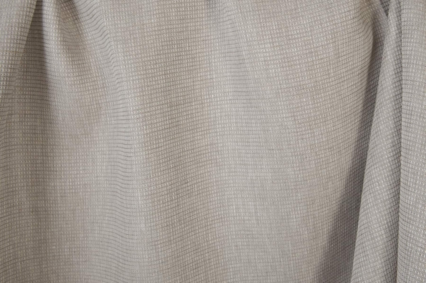Light grey linen fabric in a tiny check pattern 2