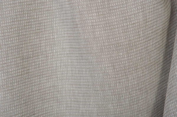 Light grey linen fabric in a tiny check pattern 1