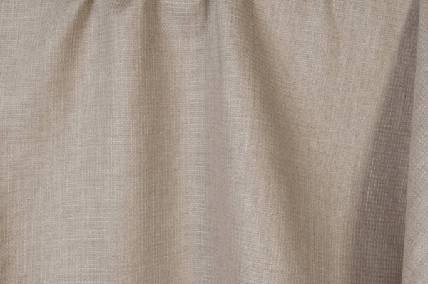 Checked linen fabric in grey (natural flax) colour 1
