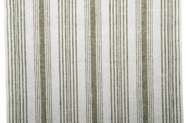 White striped toweling linen fabric 1