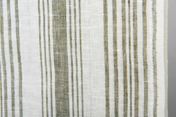 White striped toweling linen fabric 4