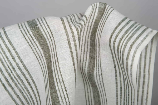 White striped toweling linen fabric 2