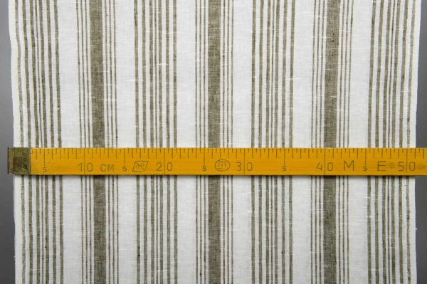 White striped toweling linen fabric 3