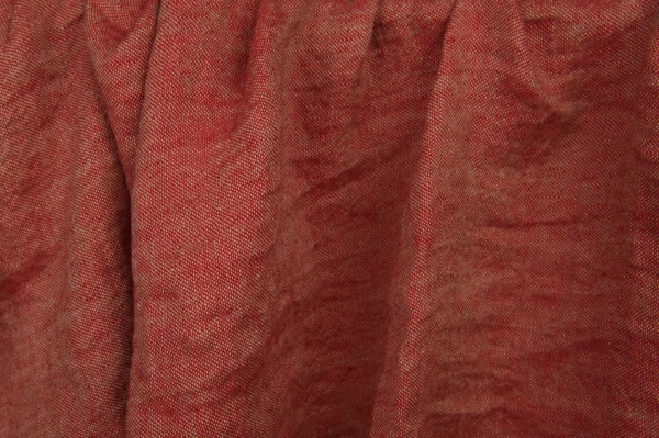 Red washed linen fabric 1