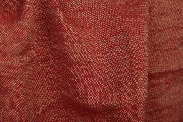 Red washed linen fabric 2