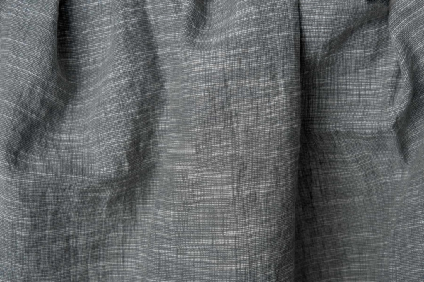 Dark grey linen blend fabric, washed 1