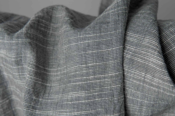 Dark grey linen blend fabric, washed 2