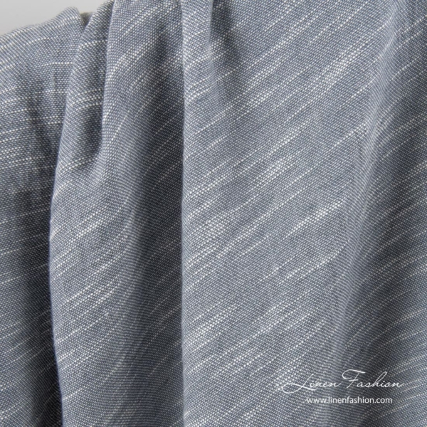 Washed grey linen cotton fabric 1