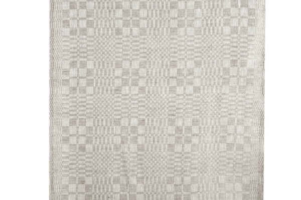 Linen fabric in grey checks 1