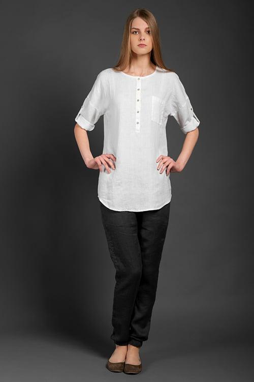 "Linen blouse ""Scarlett"" 2"