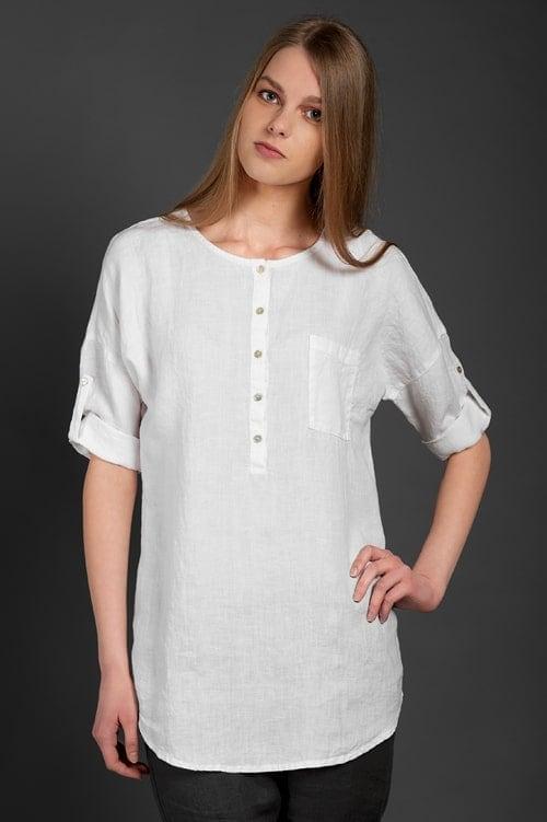 "Linen blouse ""Scarlett"" 1"