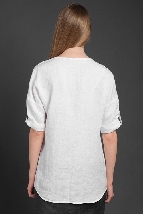 "Linen blouse ""Scarlett"" 4"