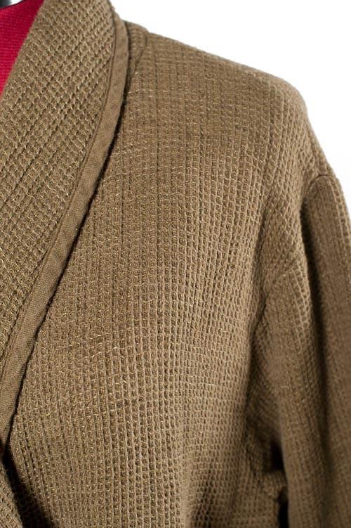 Brown linen women's bathrobe 3