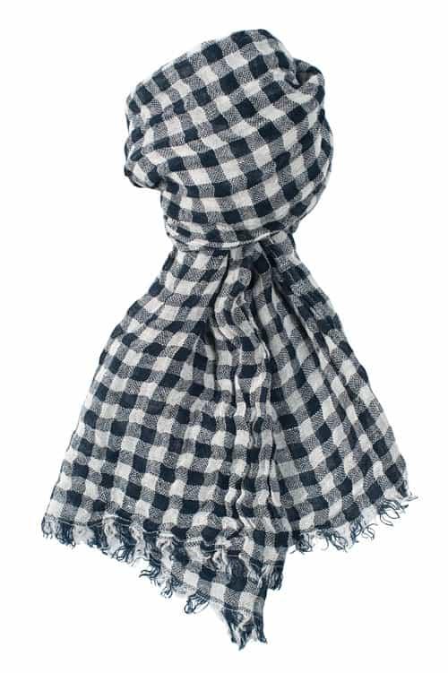 FINO blue checked shawl 1