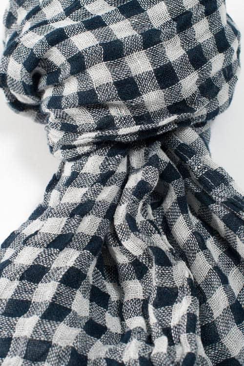 FINO blue checked shawl 2