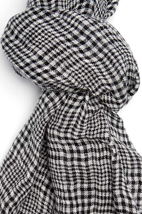 FINO black plaid shawl 2