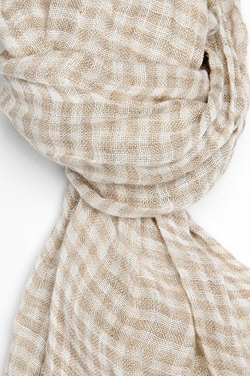 FINO grey checked shawl 2