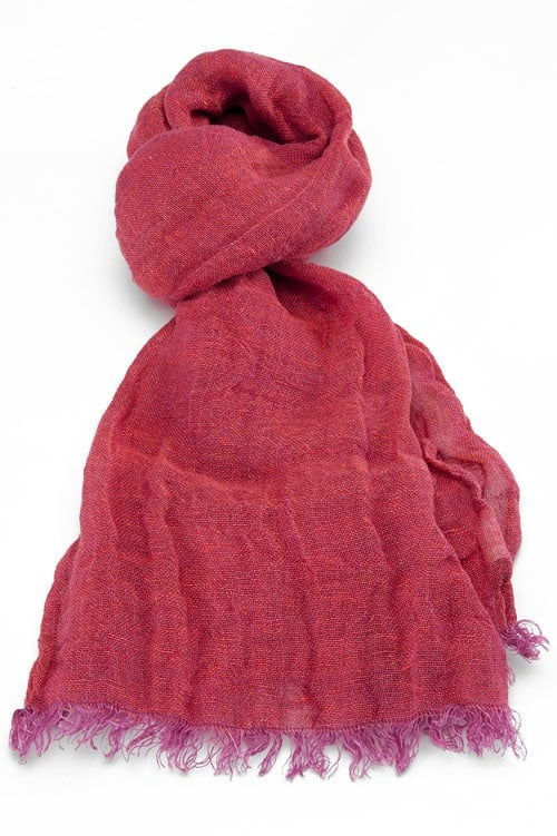 FINO raspberry red shawl 1