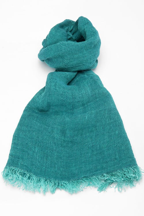 FINO emerald green shawl 1