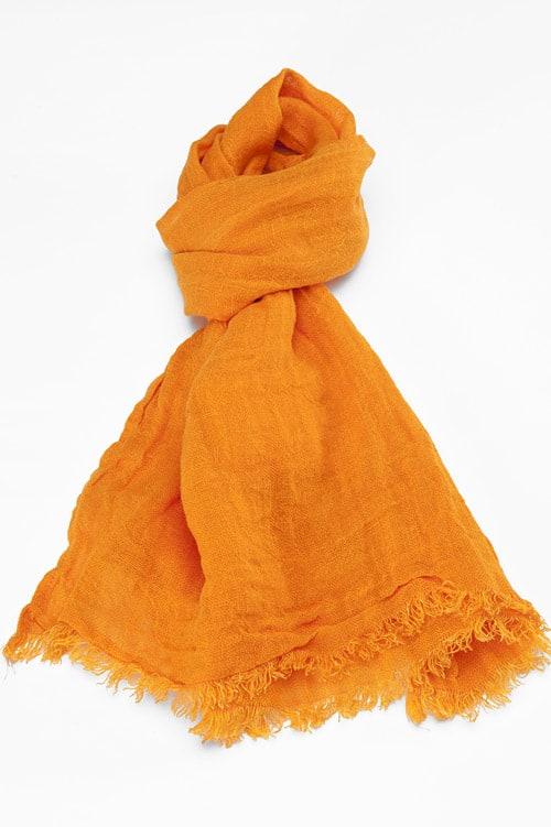 FINO bright orange shawl 1