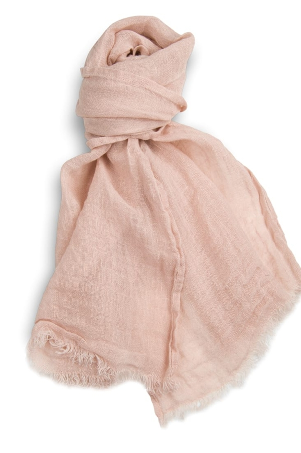 Light pink linen shawl 1
