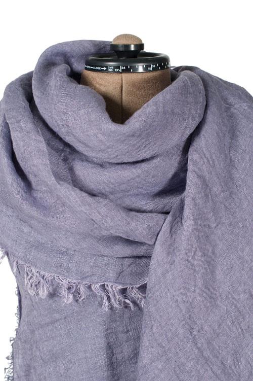 Violet linen shawl 1