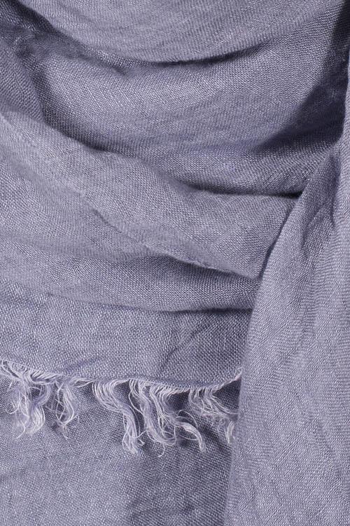 Violet linen shawl 2