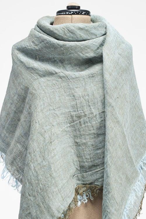 Light green linen wrap scarf 1