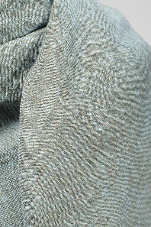 Light green linen wrap scarf 2