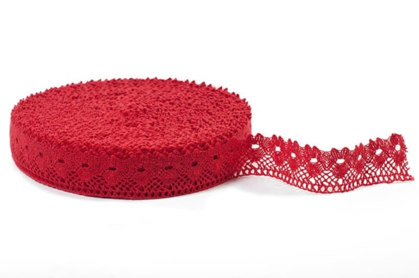 Linen lace in red No. 9 1