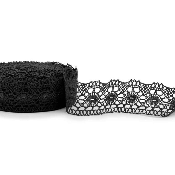 Linen lace in black No. 66 1