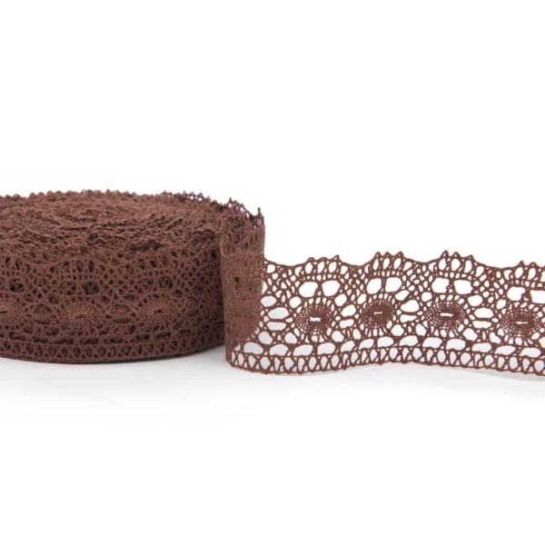 Brown linen lace No. 52 1