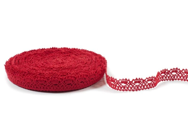 Red linen lace No. 5 1