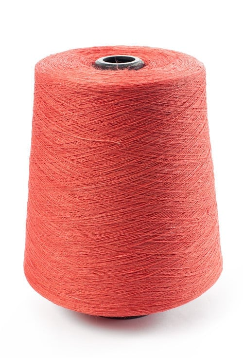 Linen yarns in coral 10(10) 1