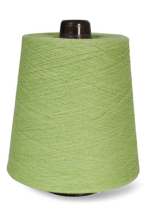 Linen yarns in green lemon colour 9(7) 1