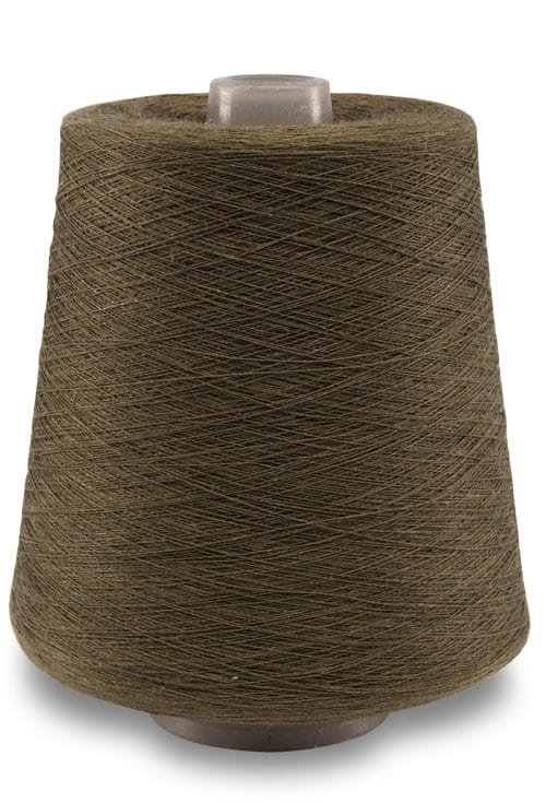Linen yarns in moss brown colour 4(11) 1