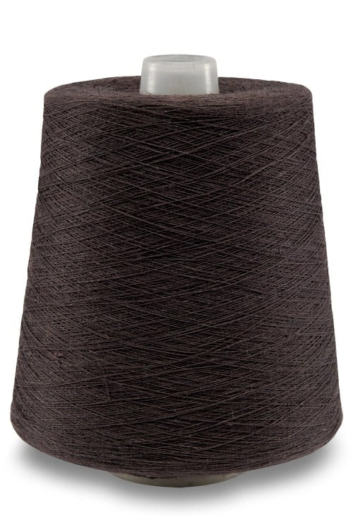 Linen yarns in black chocolate colour 11(7) 1