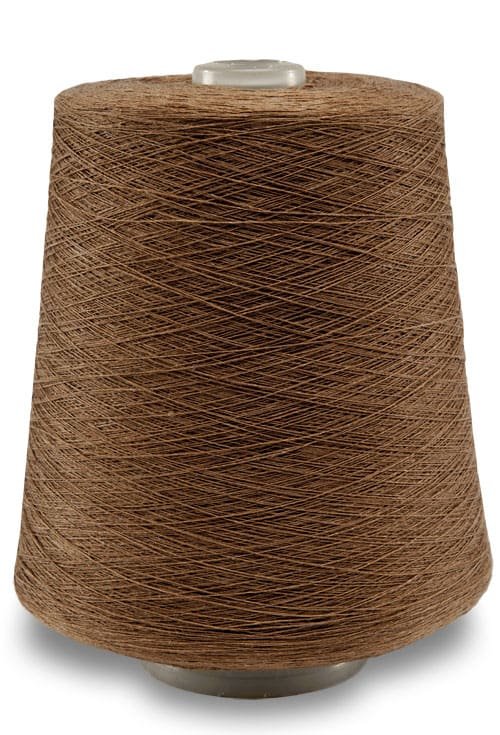 Linen yarns in dark ocher colour 11(5) 1