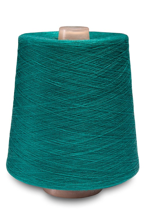 Linen yarns in turquoise colour 4(2) 1